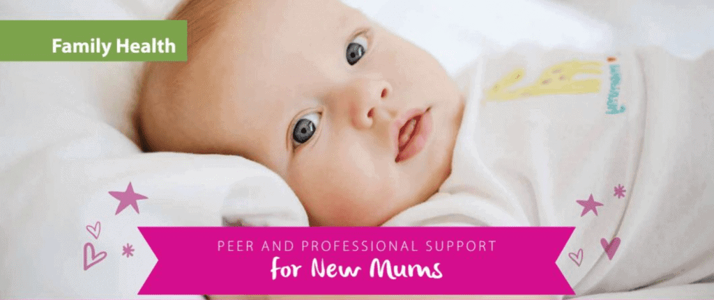 featured image for peer and professional support for new mums