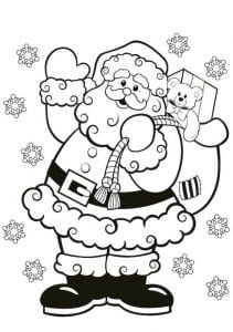 santa-colouring-in-for-kids - Christmas printables