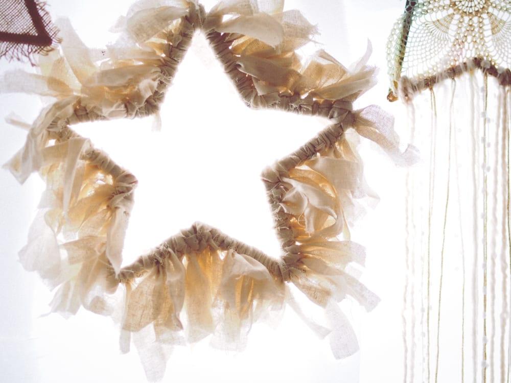 DIY Rustic Christmas Star Wreath