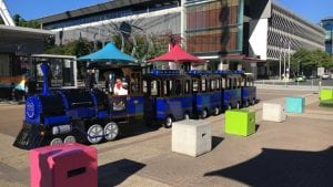 The Xpress Fun Train at South Bank