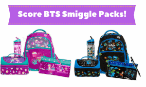 smiggle merchandise - school bags, lunch boxes, drink bottles, pencil cases