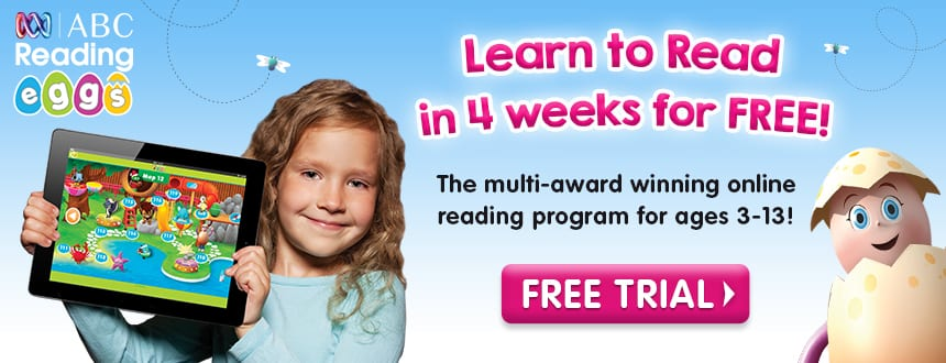 ABC Reading Eggs free 4 week trial