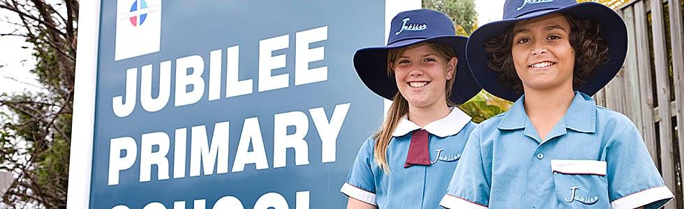 Jubilee Primary School Parent Fact Sheet students in school uniform