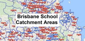 Map of Brisbane school catchment areas