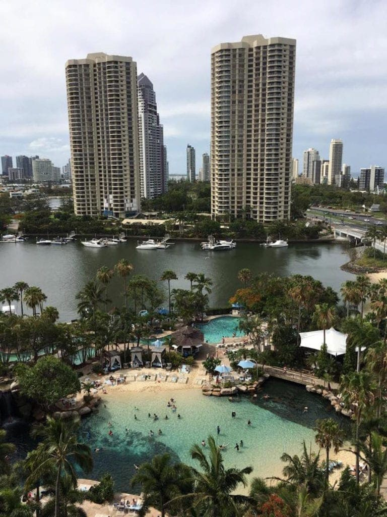 Surfers Paradise Marriott Resort & Spa view of pools and scenery