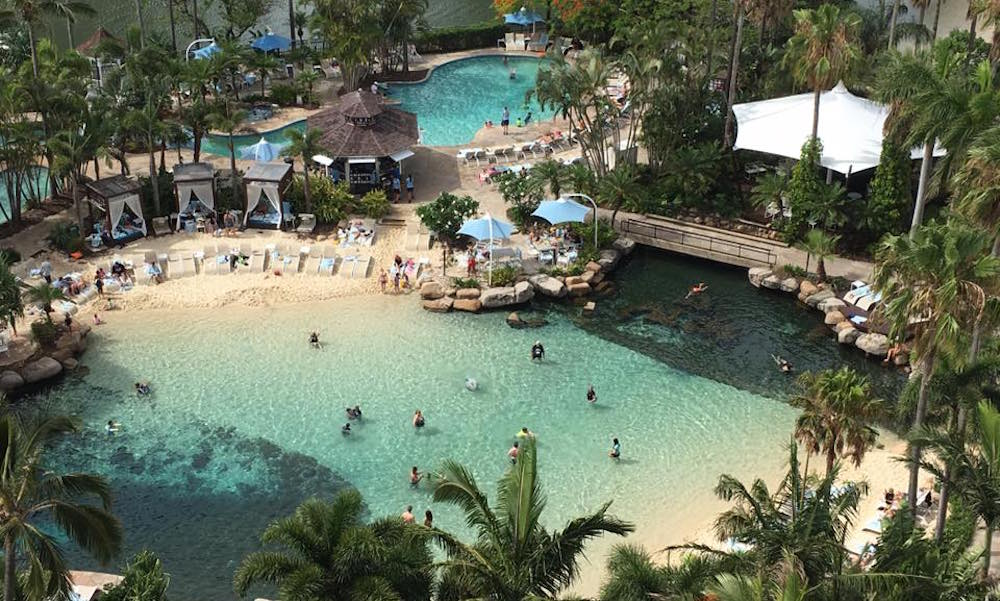 Surfers Paradise Marriott - Image of pools taken from room balcony
