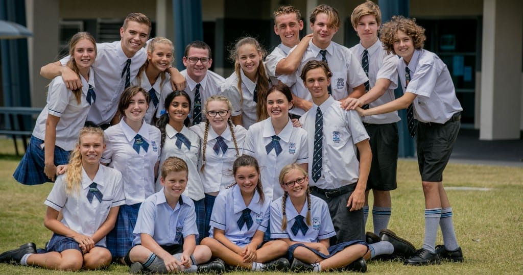 Students in uniform at Marymount College in Burleigh Waters