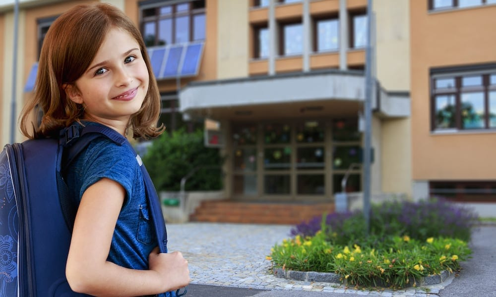 Open Days For Schools Back to school - portrait of lovely schoolgirl