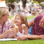 Family Enjoying Cupcakes At Outdoor Summer Event whats on gold coast families