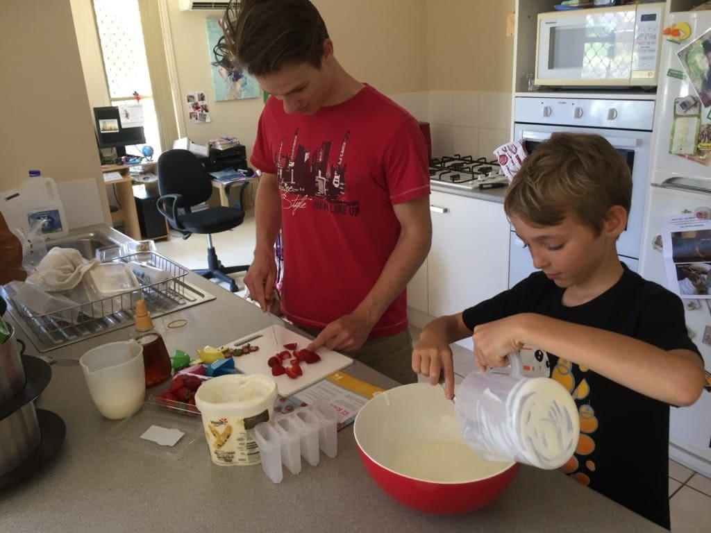 Strawberries & Cream Ice Blocks