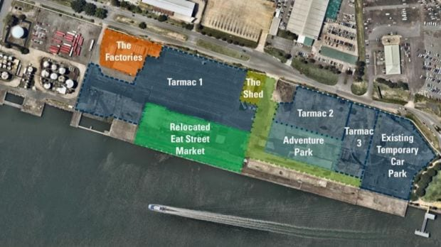 Eat Street Markets move, birdseye view of development plan