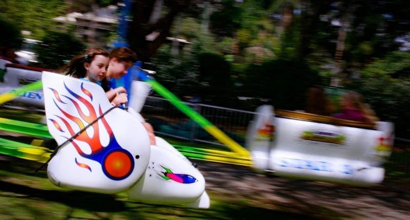Rides for the kids and the young at heart at the Mount Tamborine 21017 Show