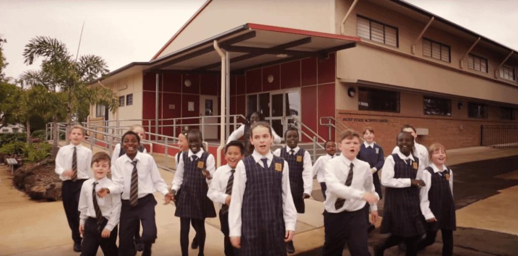Holy Name Catholic Primary School students