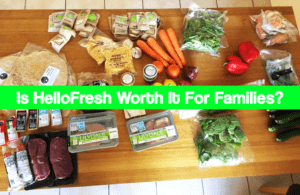 hellofresh ingredients sprawled out