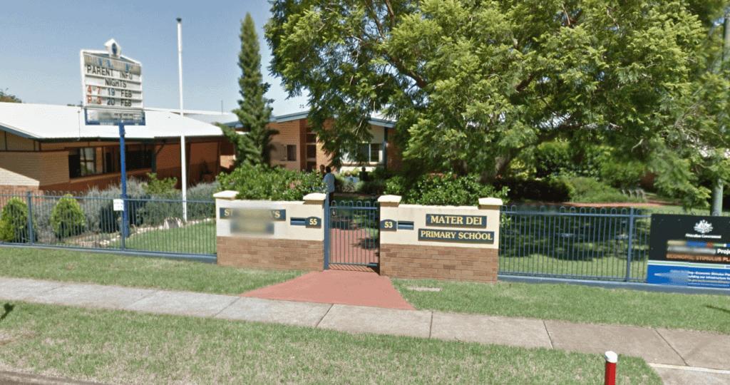 Mater Dei Primary School entrance