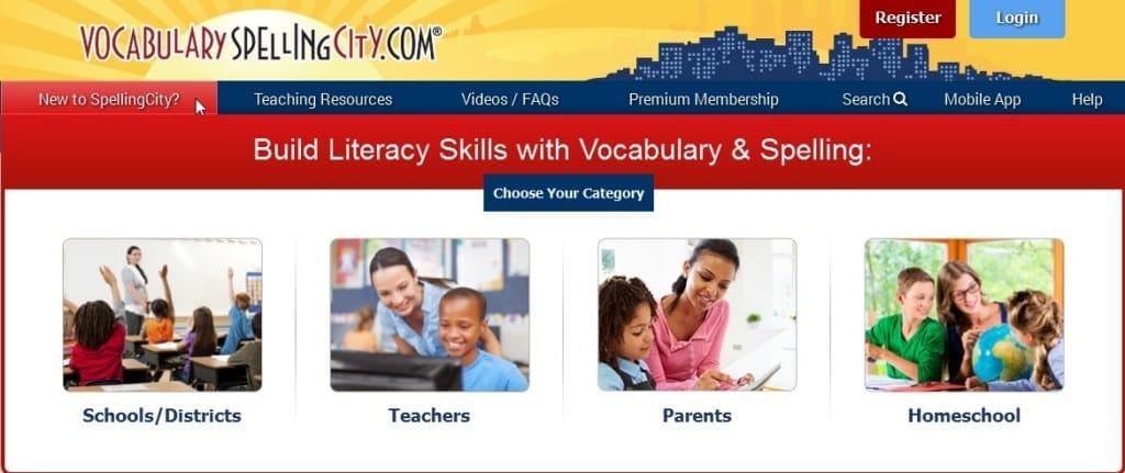 Spelling City sight for schools parents teachers homeschool