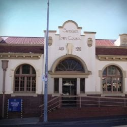 The entrance of Sandgate Library