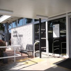 The entrance to Zillmere Library