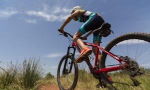 ki riding bike in training for tryathlon
