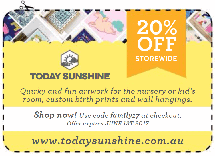 Today Sunshine voucher