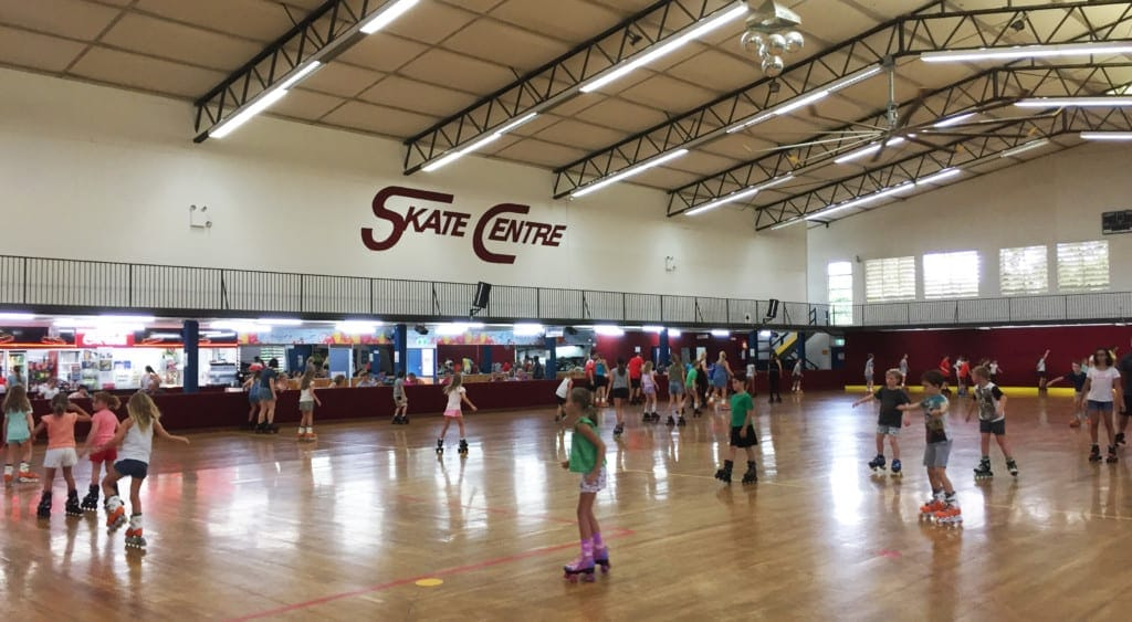 Stafford Skate Centre inside wide view of rink