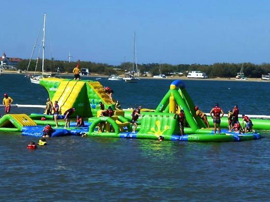 AquaSplash floating water sport equipment