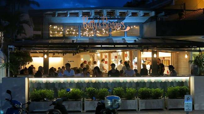 Betty's Burgers Surfers Paradise shopfront