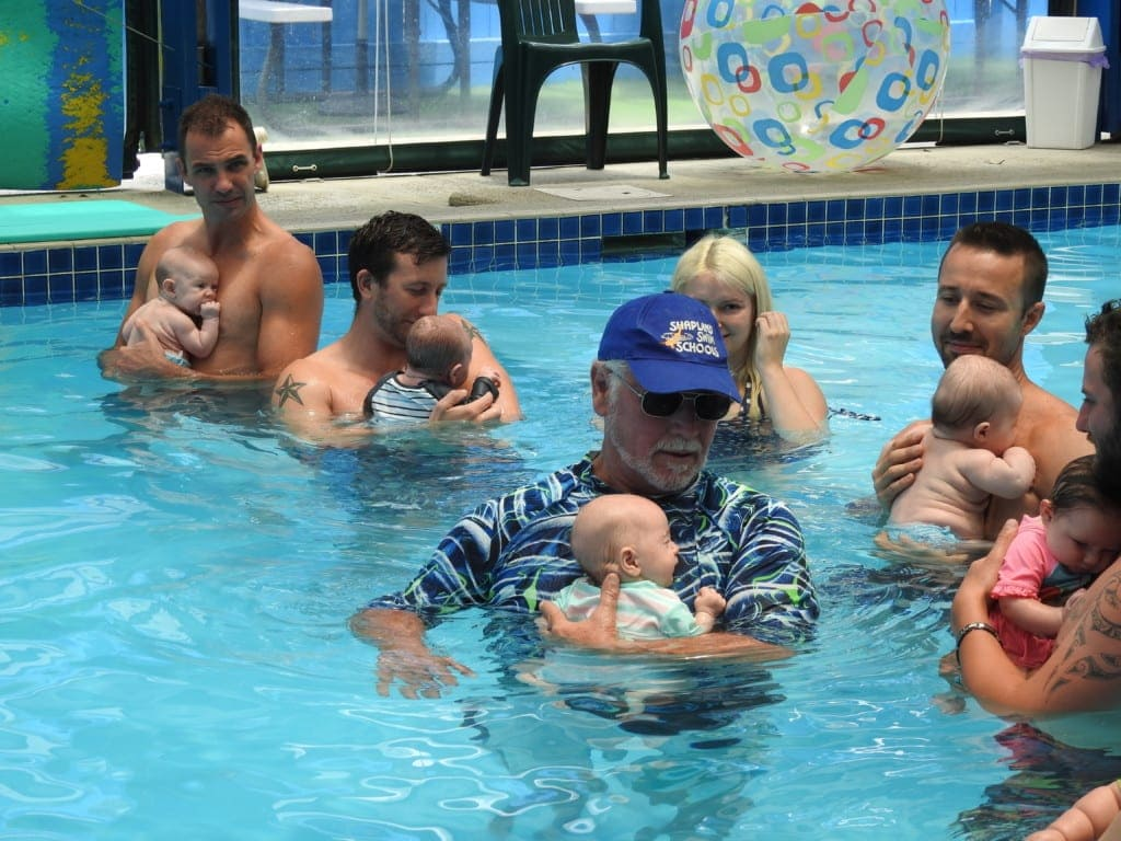 Shapland Swim School parents and babies