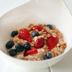healthy breakfasts Healthy muesli with several fruits and berries