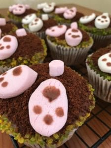 Bunny Down a Hole Mini Carrot Cakes for Easter