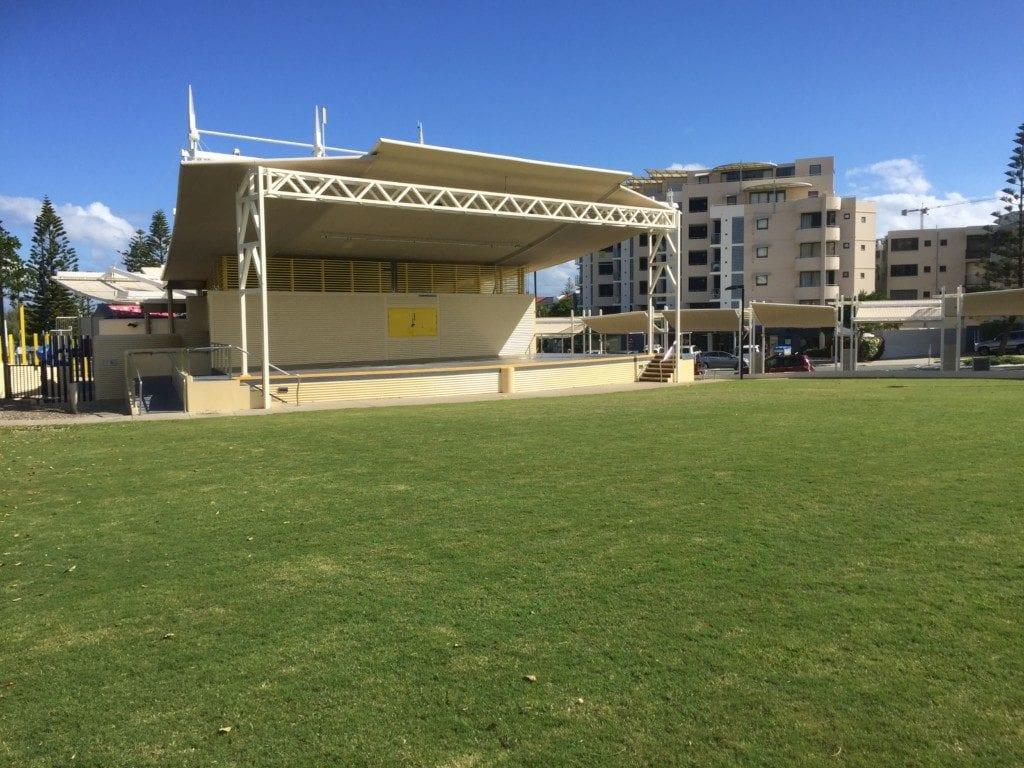 Kings Beach Caloundra - open green space