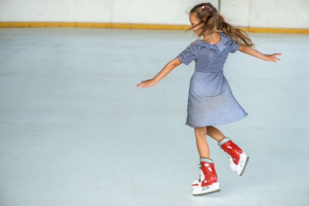 Little girl ice skating Gold Coast