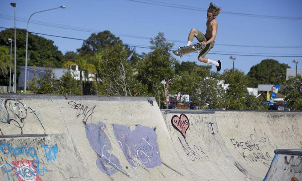 riders doing tricks at South tweed Skate park