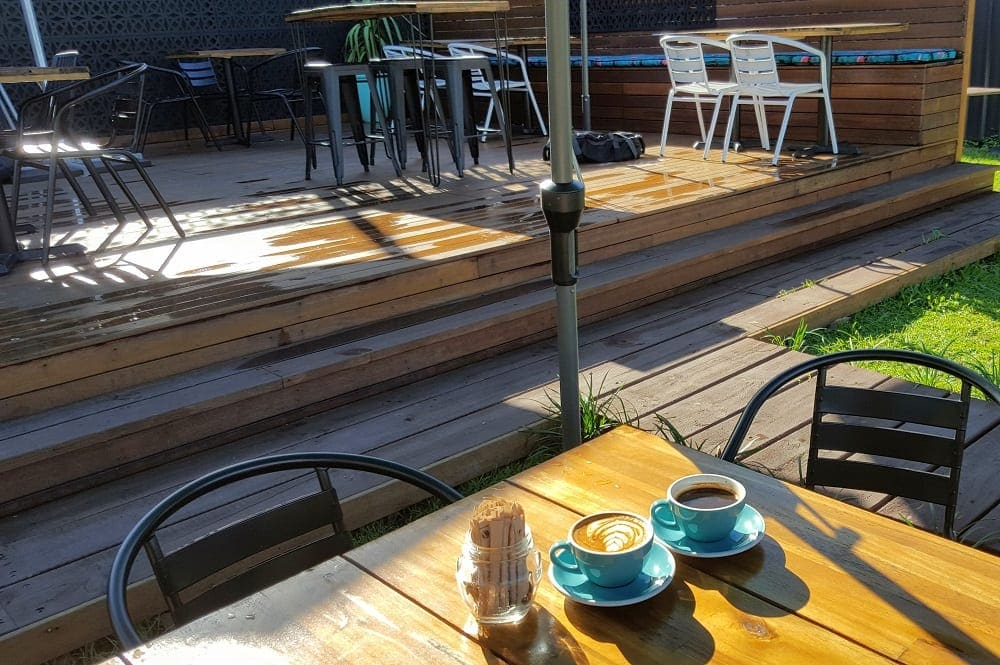 outdoor seating area at Neighbourhood Espresso