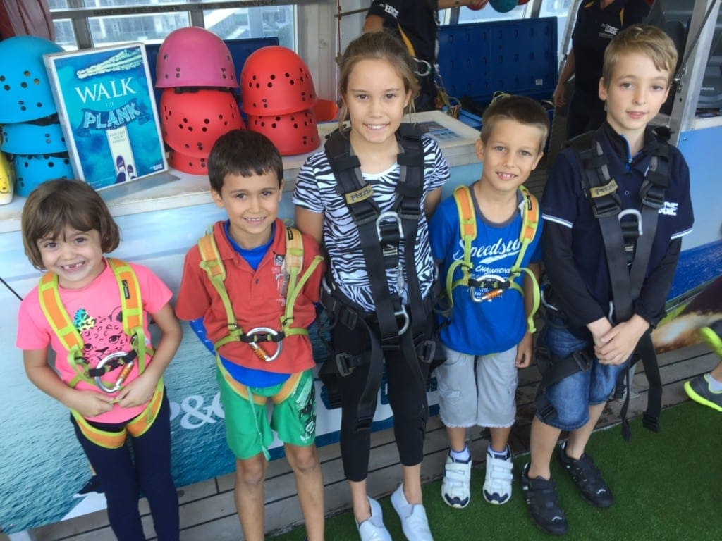 P&O Cruises The Edge - adrenalin activities for kids and grown ups!