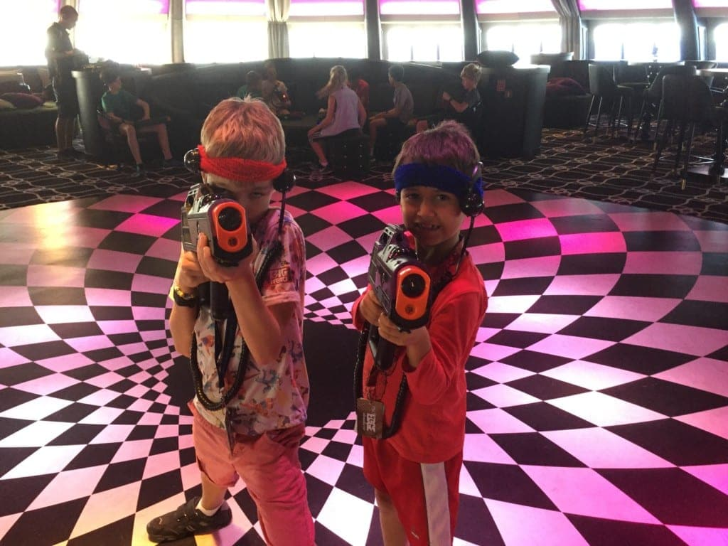 P&O Cruises The Edge Laser Tag