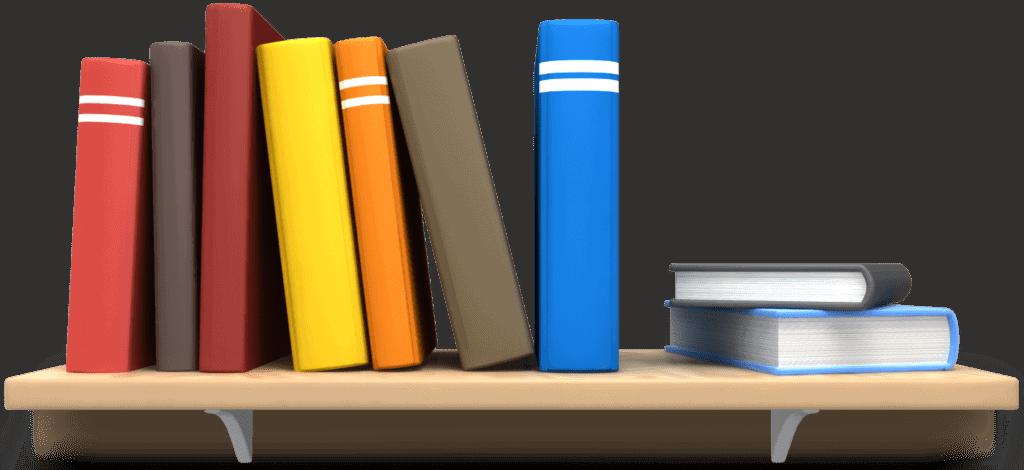 Books on a shelf at Cecil Plains Library Cecil Plains