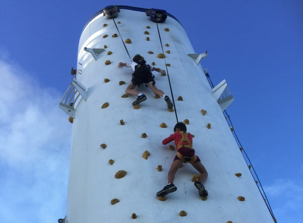 P&O Cruisees The Edge Climbing Wall
