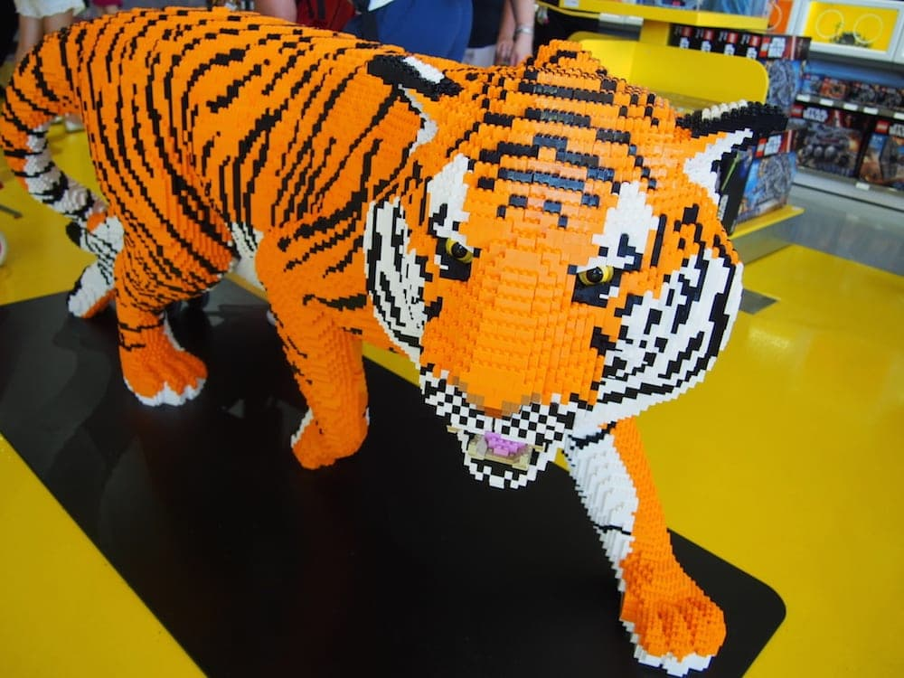 Tiger made of LEGO dreamworld for families