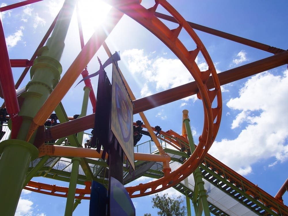 rollercoaster at dreamworld for families