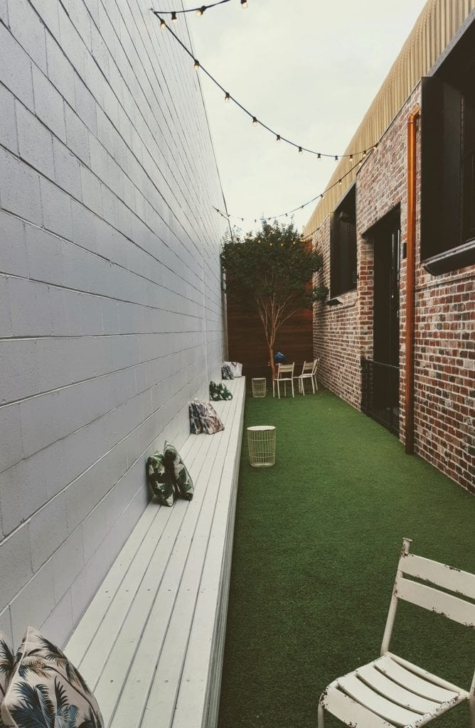 outdoor area at Balter Brewery