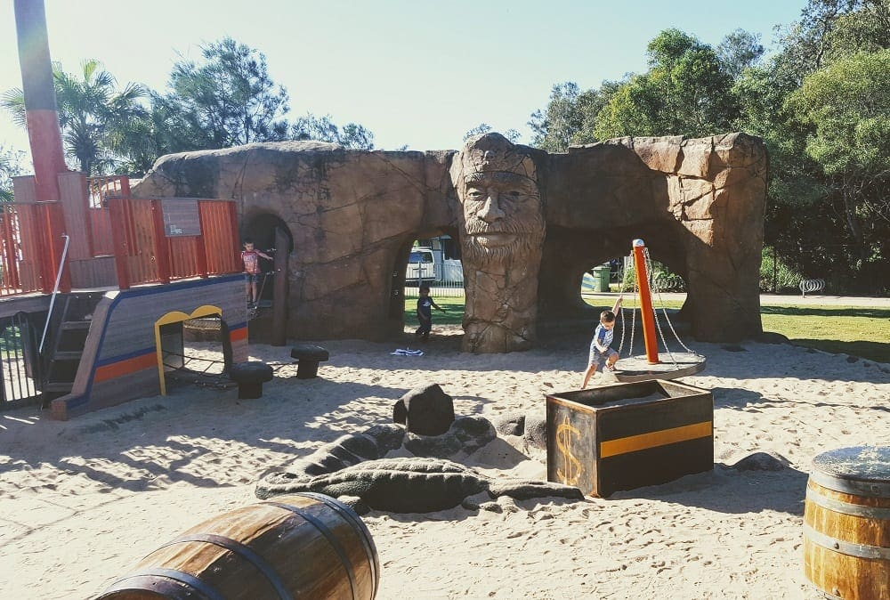 gold coast playgrounds with kids pirate park