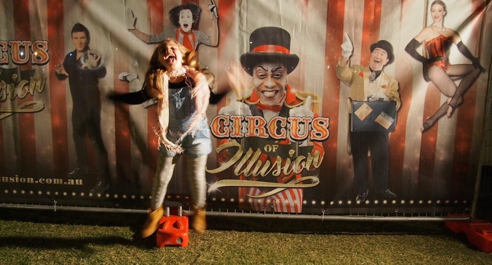 Gold Coast School Holidays little girl at circus