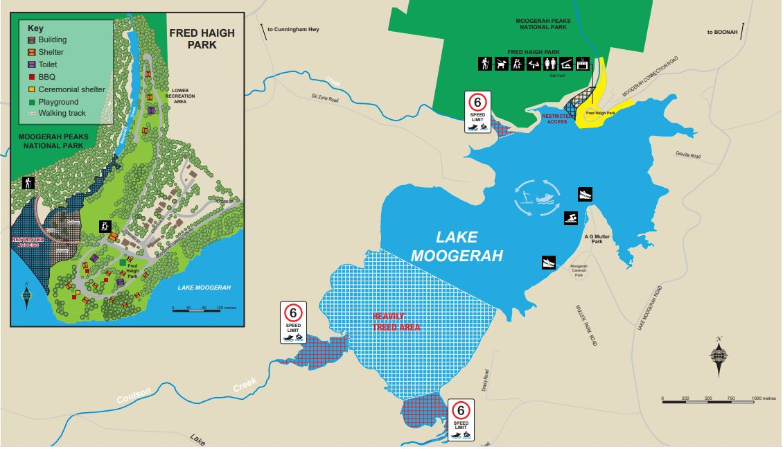 Lake Moogerah Map