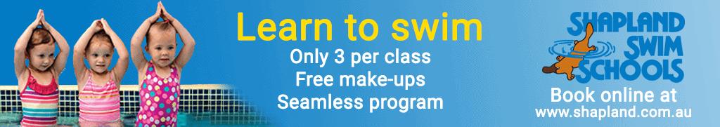 Shapland swim school in article banner
