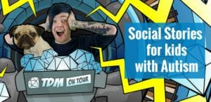 DanTDM social stories for kids with autism