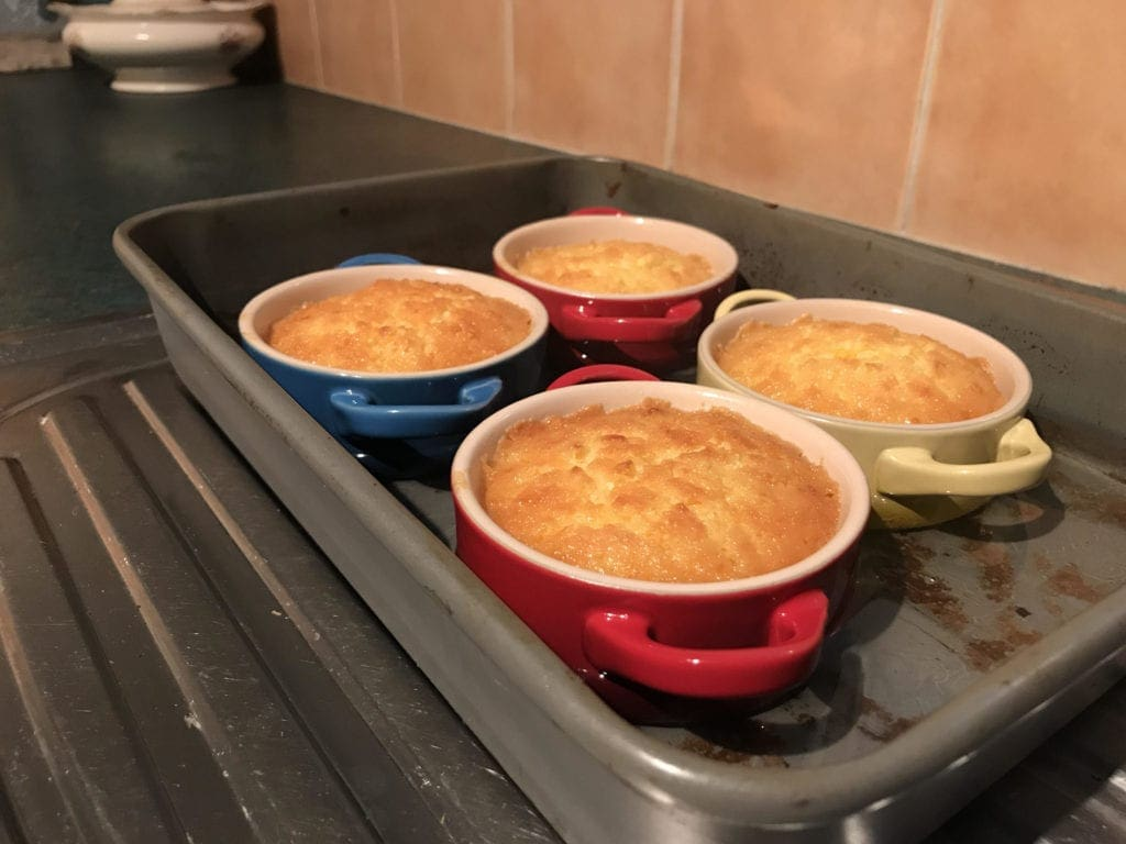 gluten free self saucing lemon pudding easy delicious