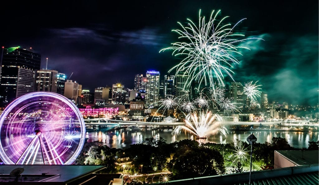 Riverfire in Brisbane