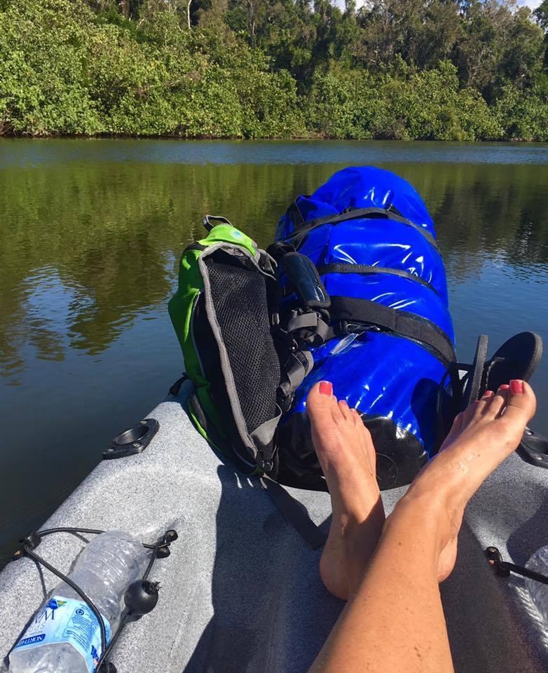 noosa kayaking feet