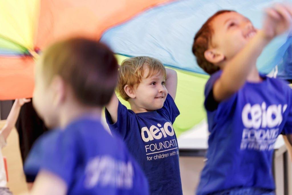 AEIOU children playing